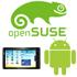 Android Logo, Archos 101 und openSuSE Logo